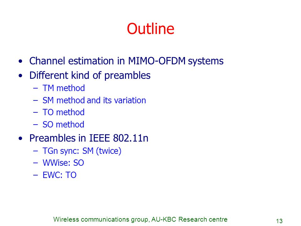 Master thesis presentation: Synchronization and channel estimation in massive MIMO systems