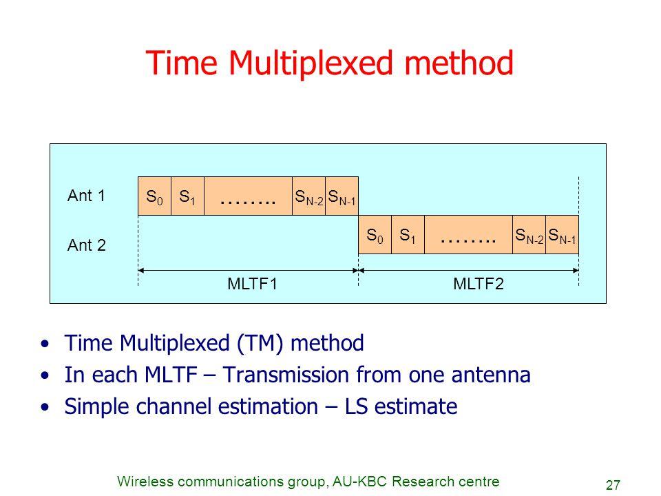 Time Multiplexed method