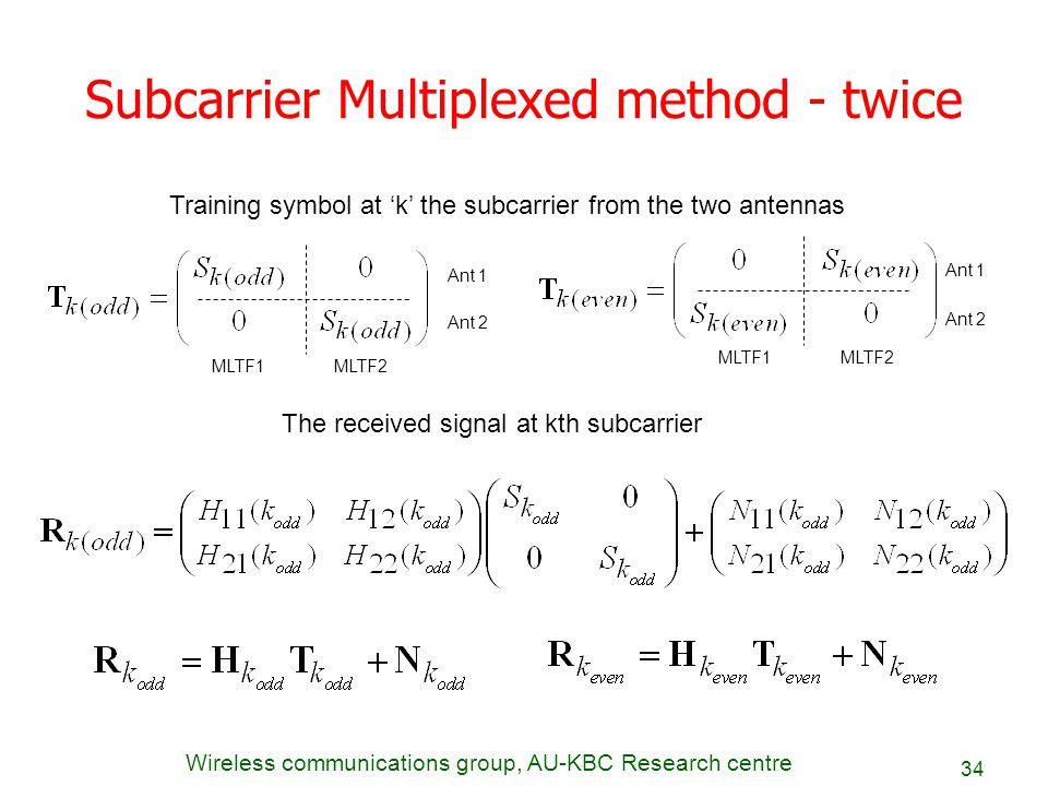 Subcarrier Multiplexed method - twice