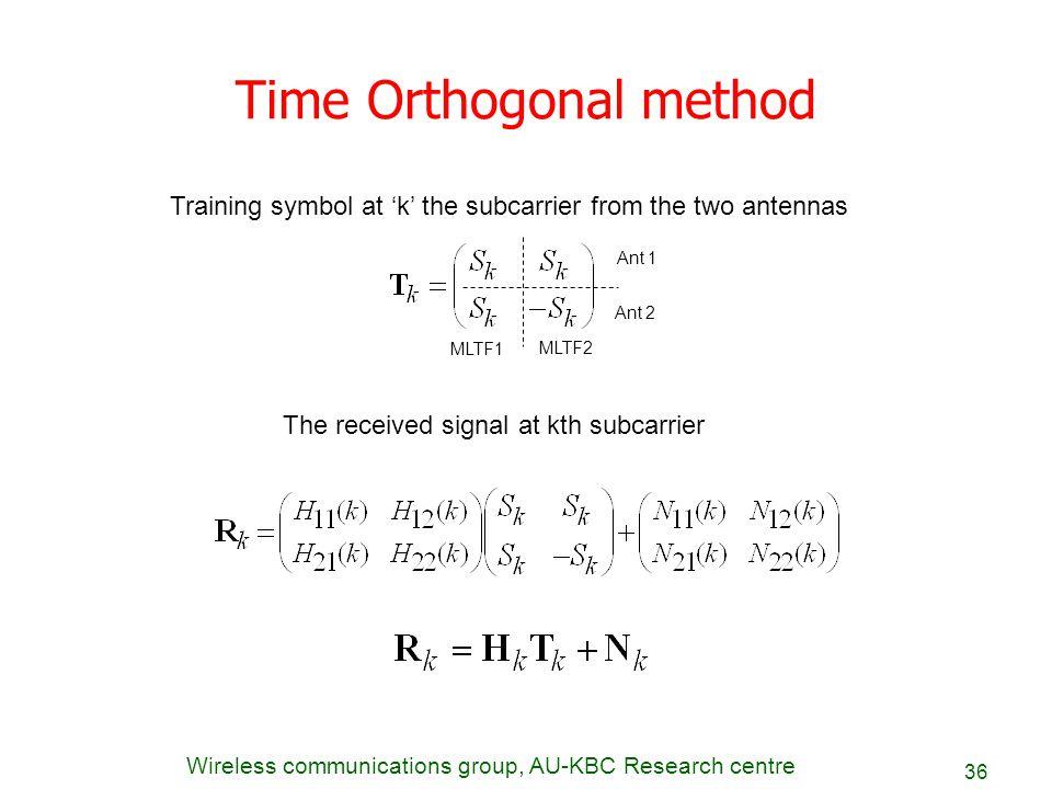 Time Orthogonal method