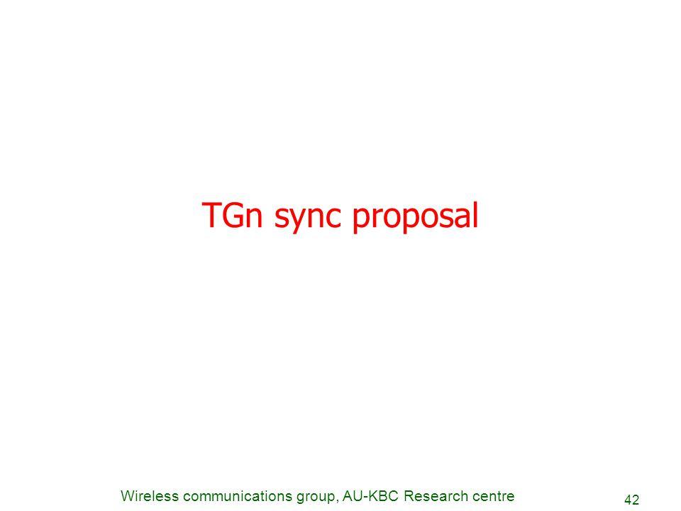 TGn sync proposal
