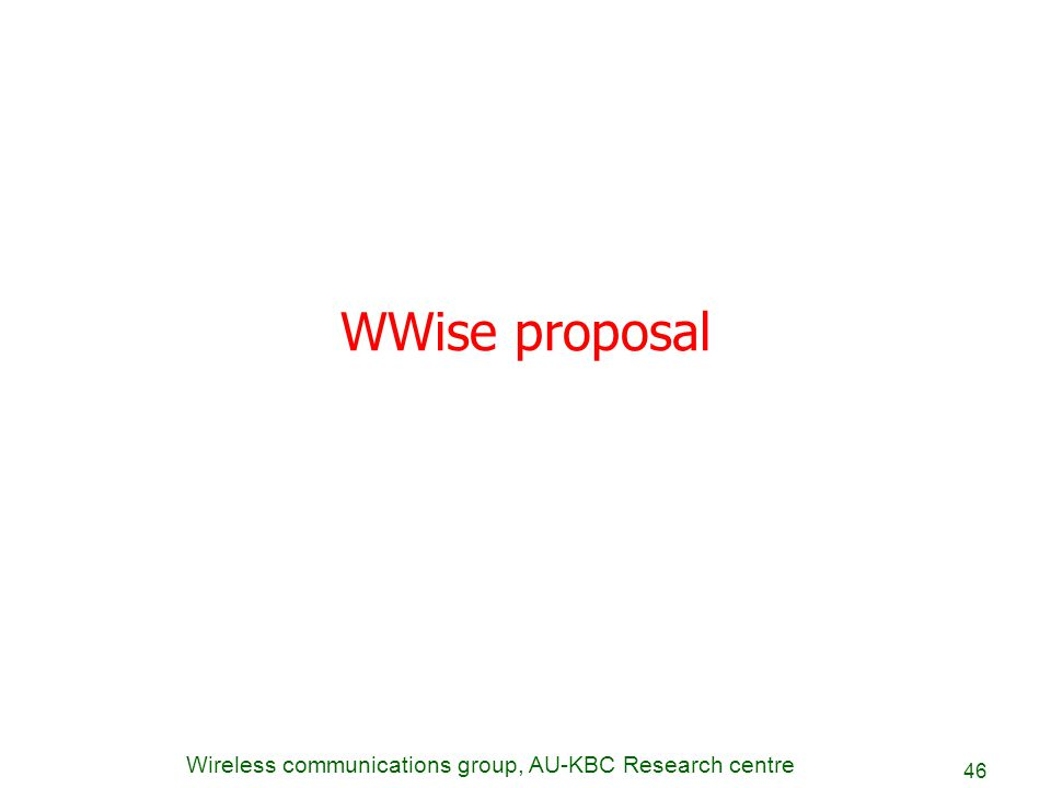 WWise proposal
