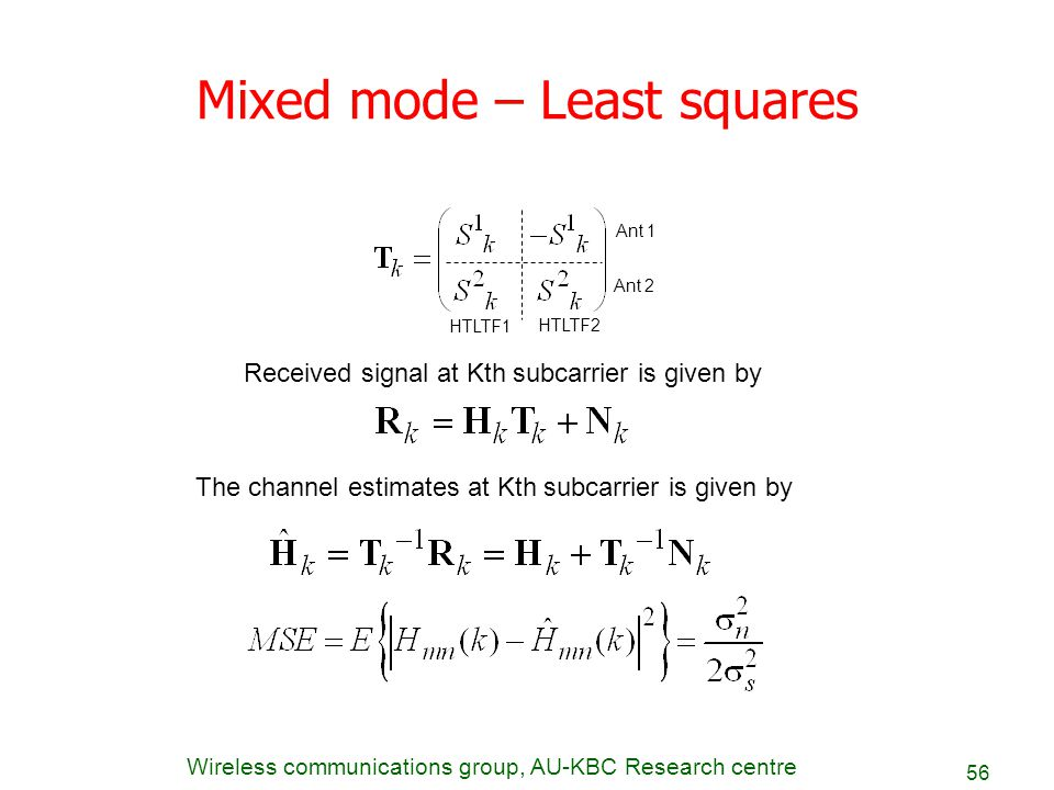 Mixed mode – Least squares