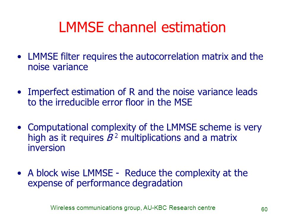 LMMSE channel estimation