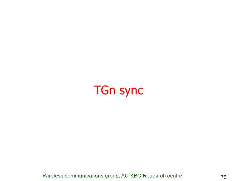 TGn sync