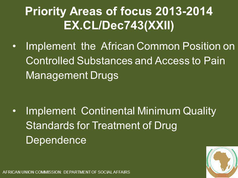 Priority Areas of focus 2013-2014 EX.CL/Dec743(XXII)
