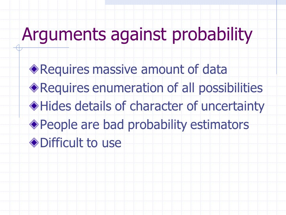 Arguments against probability
