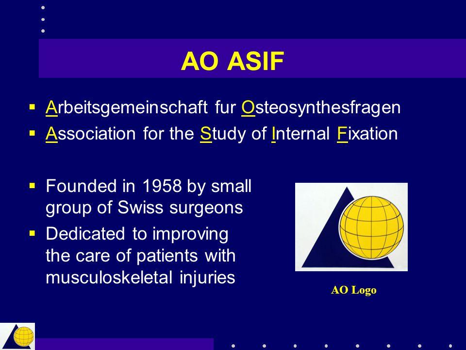 AO ASIF Arbeitsgemeinschaft fur Osteosynthesfragen