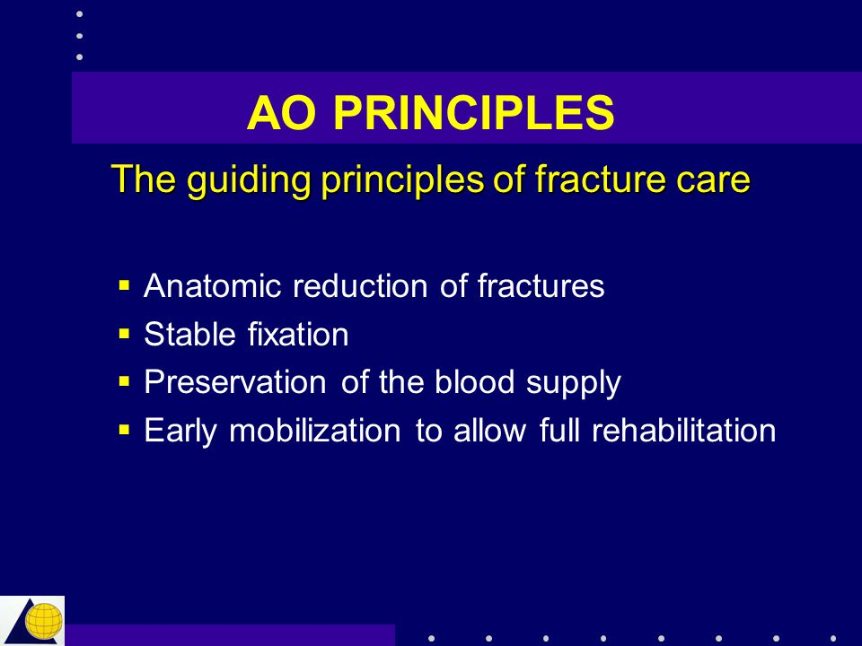 The guiding principles of fracture care