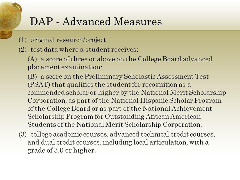 DAP - Advanced Measures