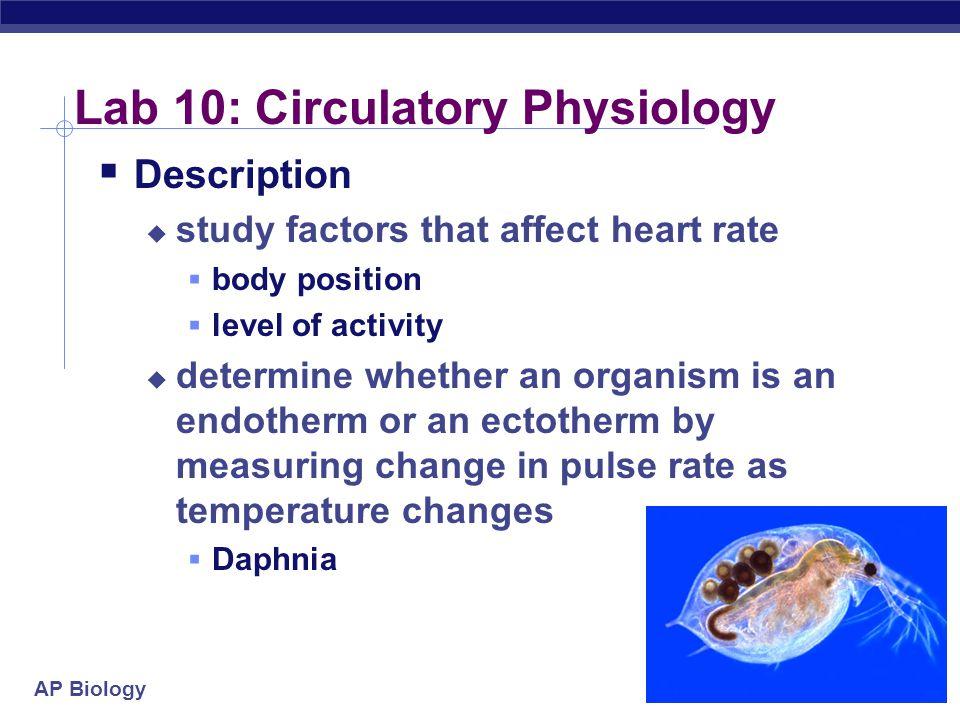 Lab 10: Circulatory Physiology
