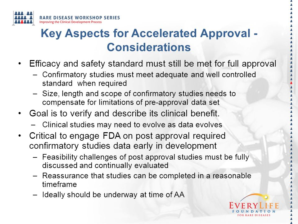 Key Aspects for Accelerated Approval - Considerations