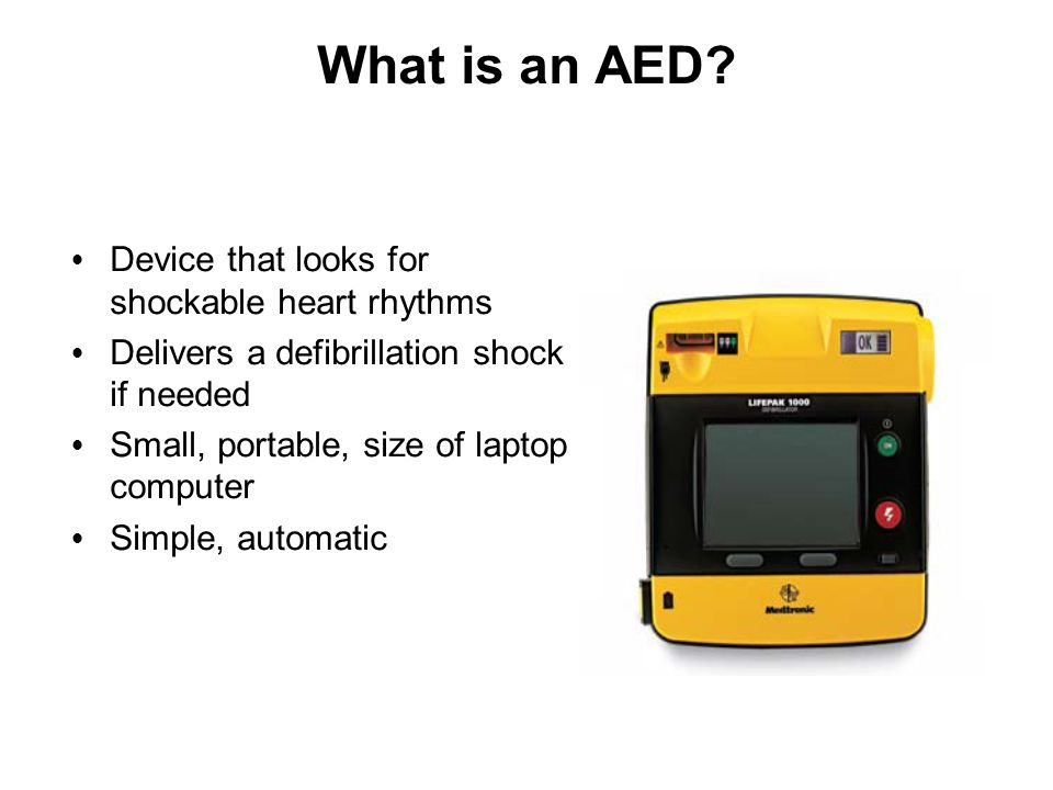 What is an AED Device that looks for shockable heart rhythms