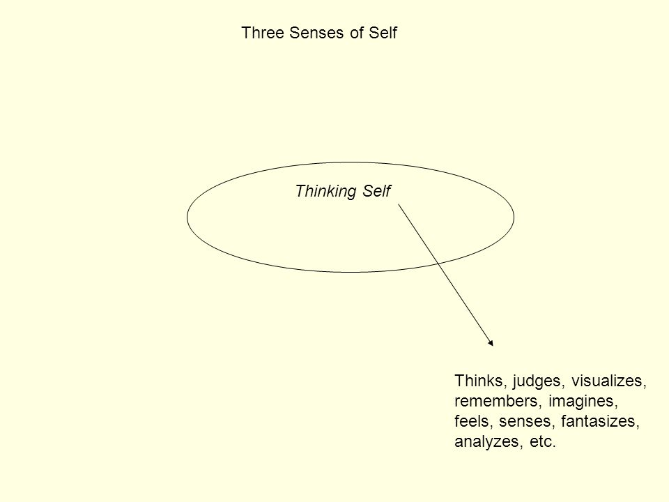 Three Senses of Self Thinking Self.