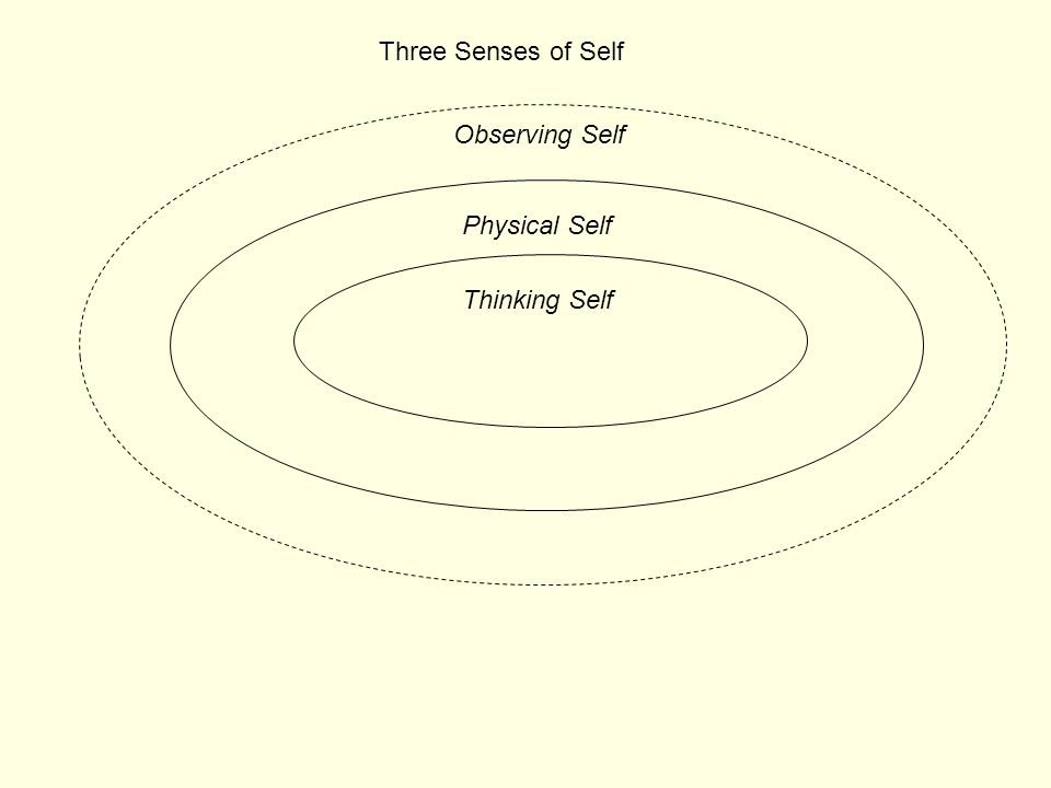 Three Senses of Self Observing Self Physical Self Thinking Self