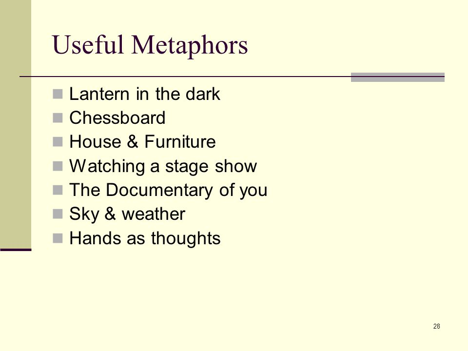 Useful Metaphors Lantern in the dark Chessboard House & Furniture