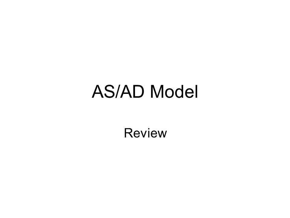 AS/AD Model Review