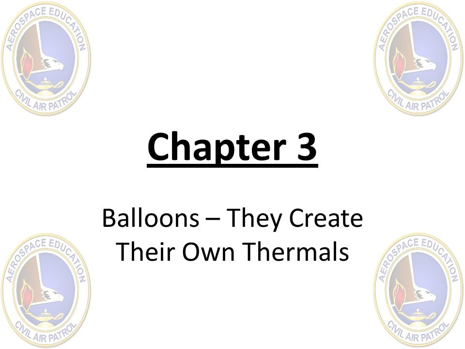 Balloons – They Create Their Own Thermals