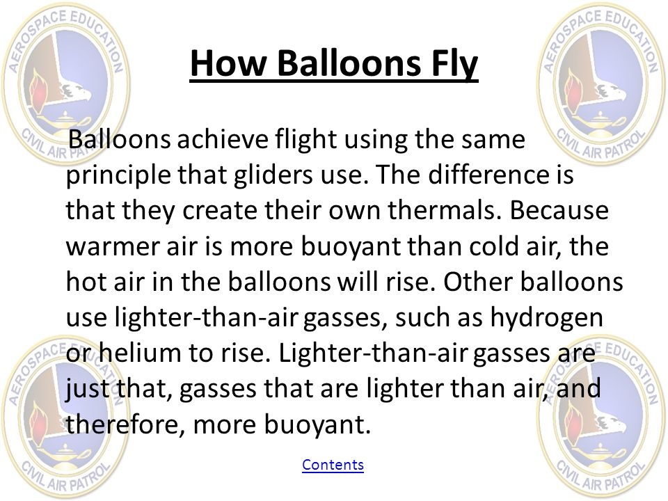 How Balloons Fly