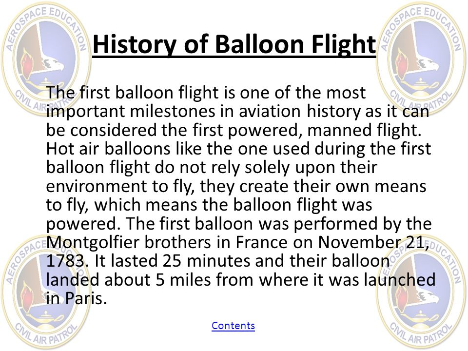 History of Balloon Flight