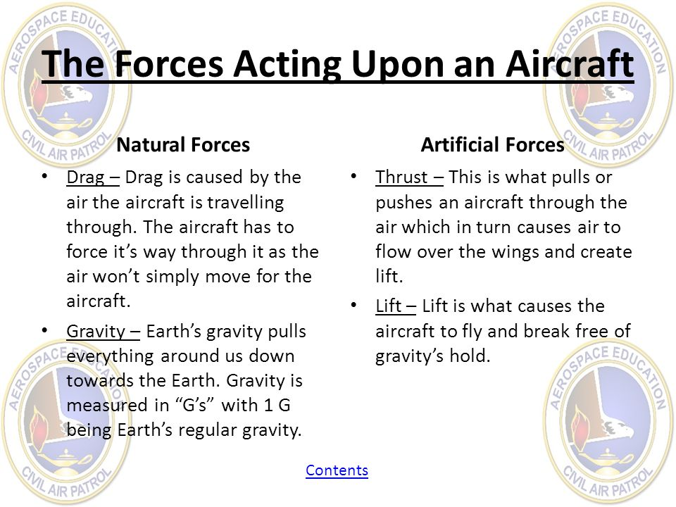 The Forces Acting Upon an Aircraft