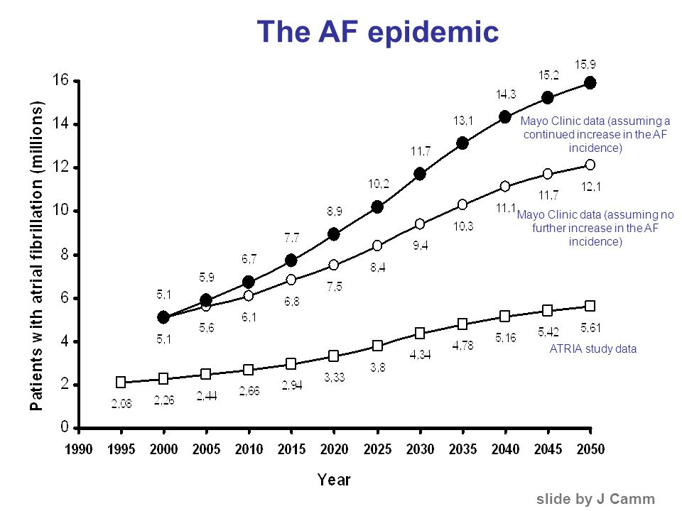 The AF epidemic slide by J Camm