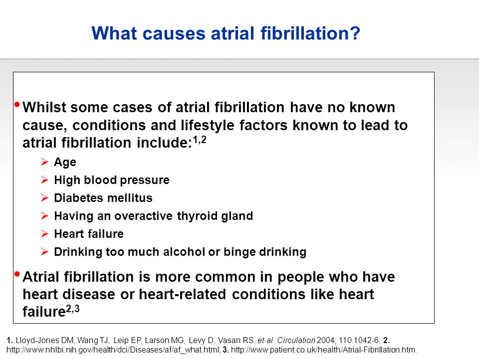What causes atrial fibrillation