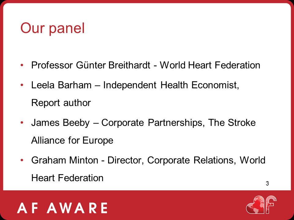 Our panel Professor Günter Breithardt - World Heart Federation