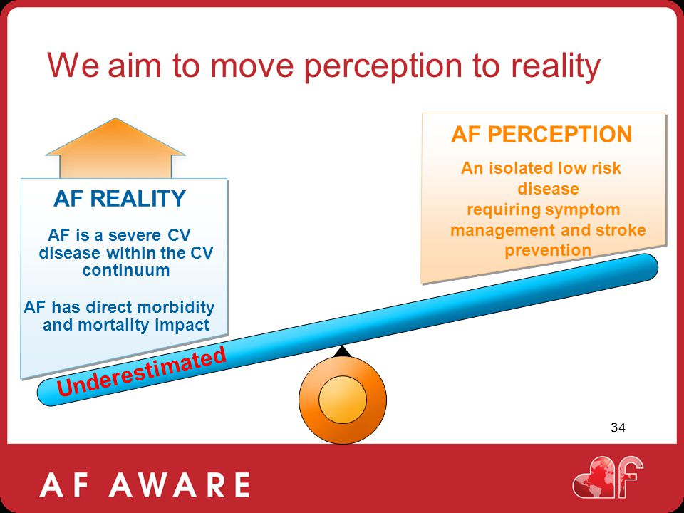 We aim to move perception to reality
