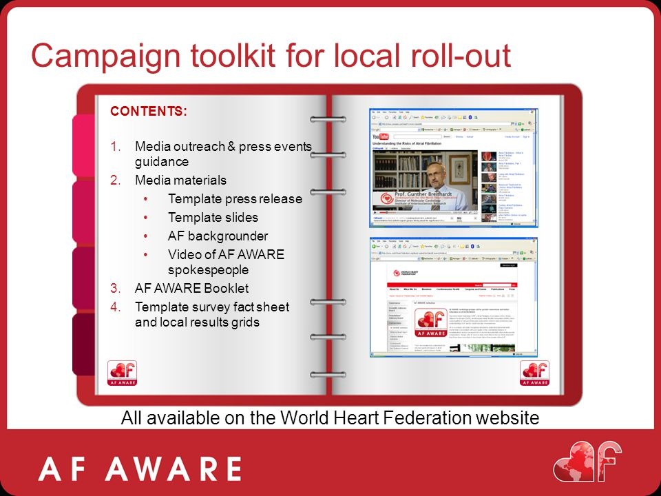 Campaign toolkit for local roll-out