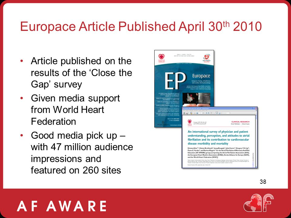 Europace Article Published April 30th 2010