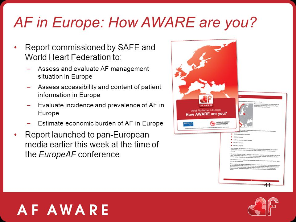 AF in Europe: How AWARE are you