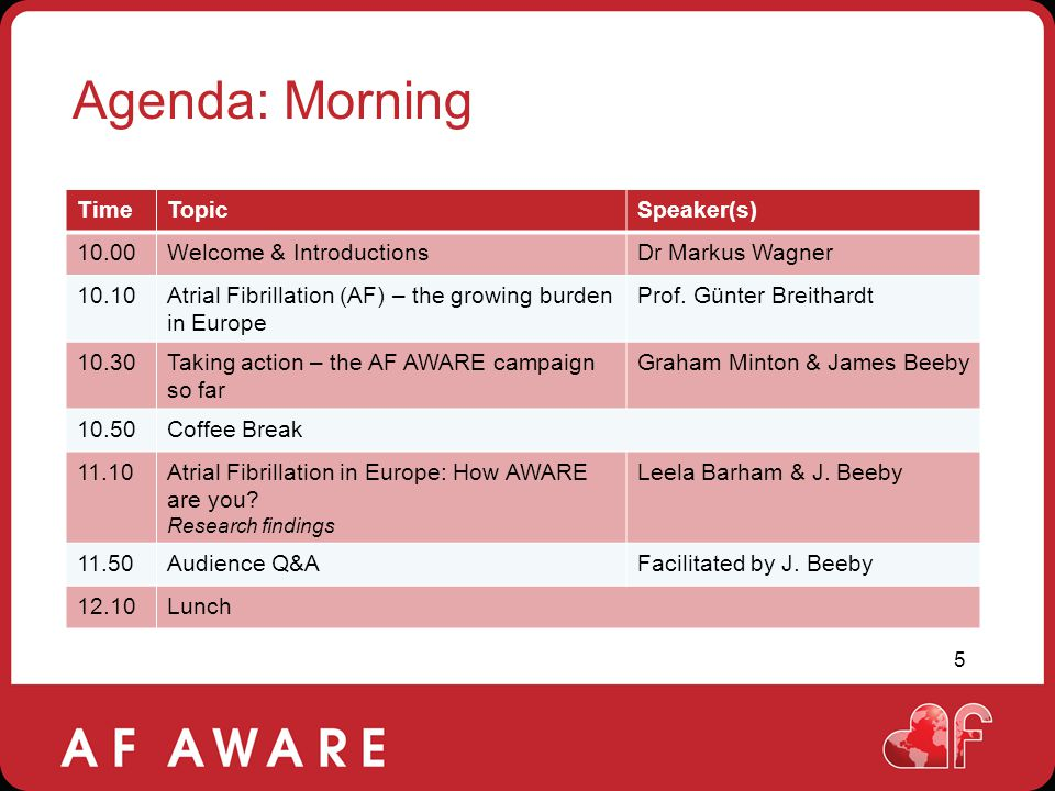 Agenda: Morning Time Topic Speaker(s) 10.00 Welcome & Introductions