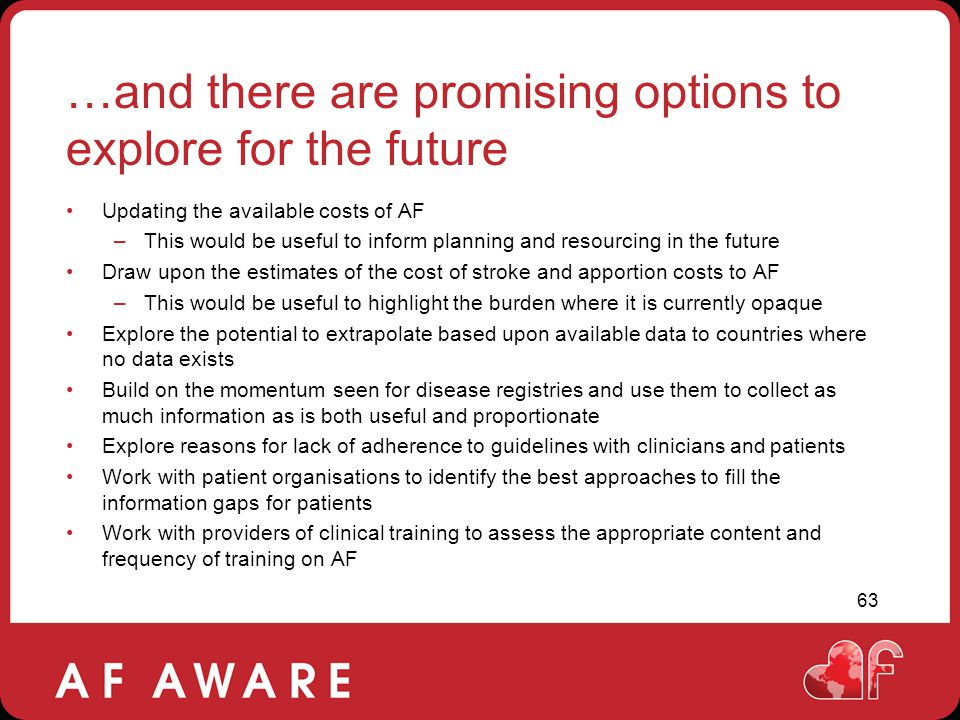 …and there are promising options to explore for the future