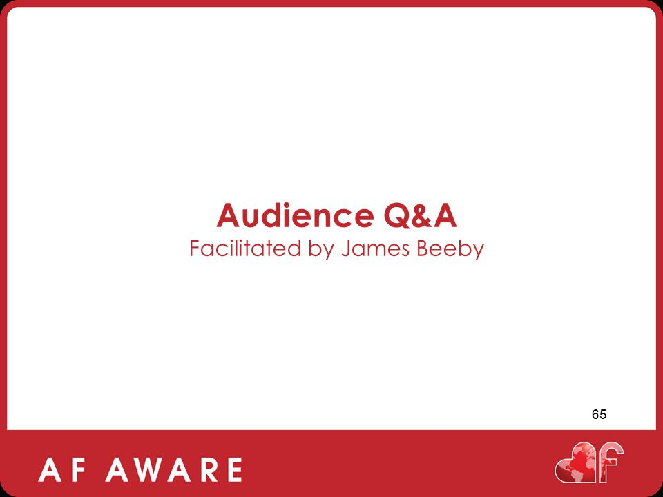 Audience Q&A Facilitated by James Beeby
