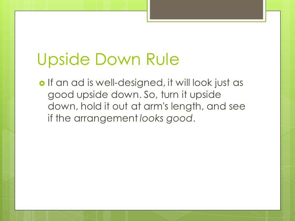 Upside Down Rule