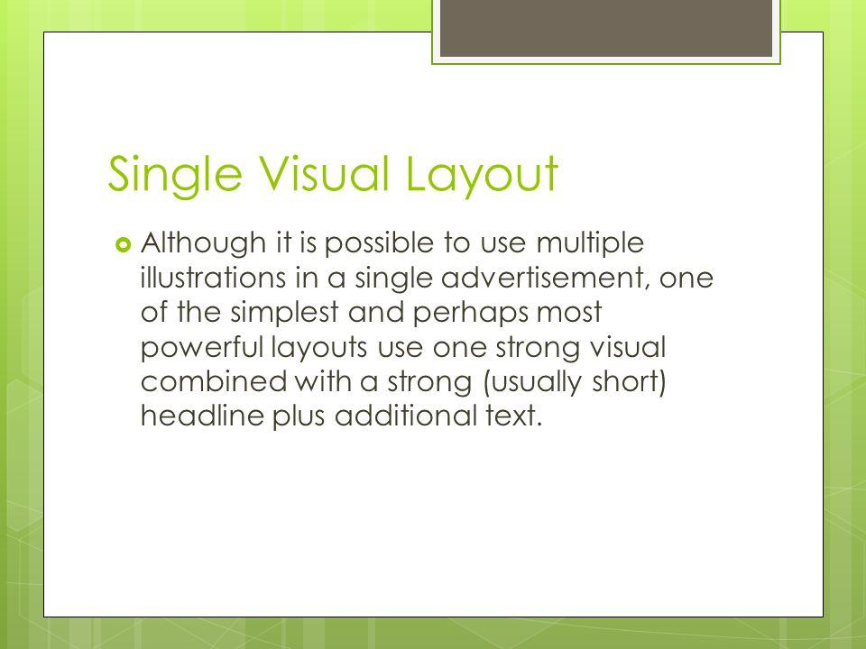 Single Visual Layout