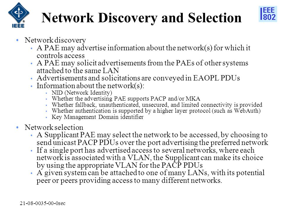 Network Discovery and Selection