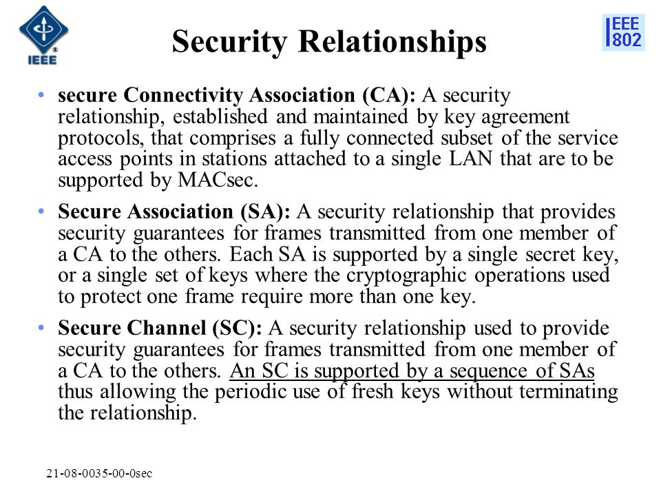 Security Relationships