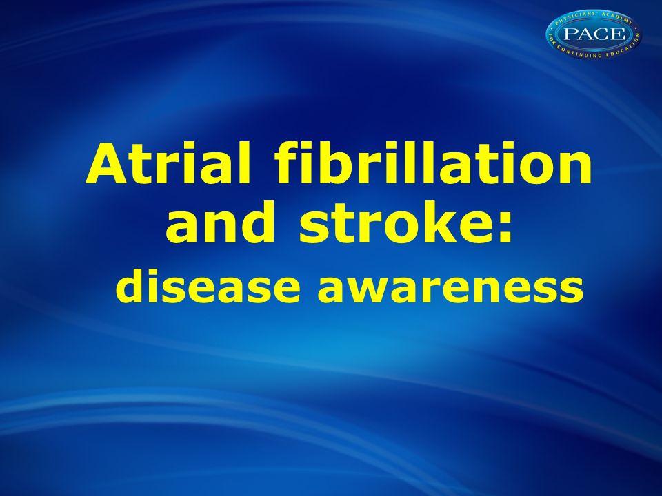 Atrial fibrillation and stroke: disease awareness