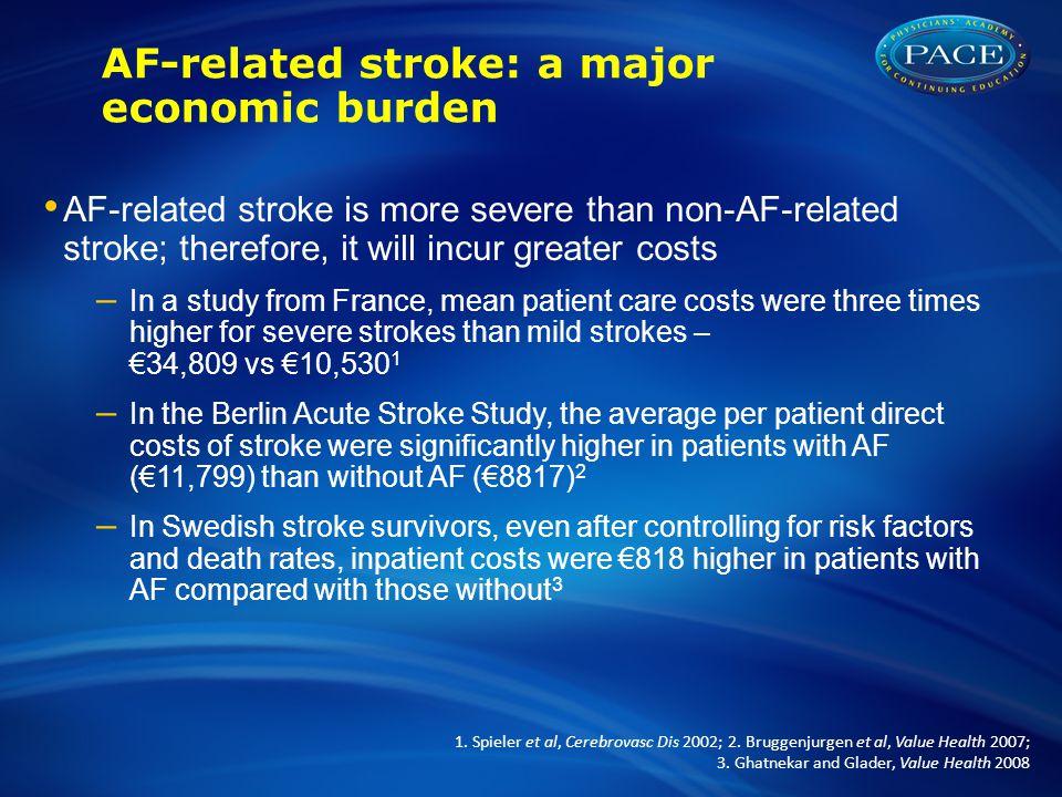 AF-related stroke: a major economic burden