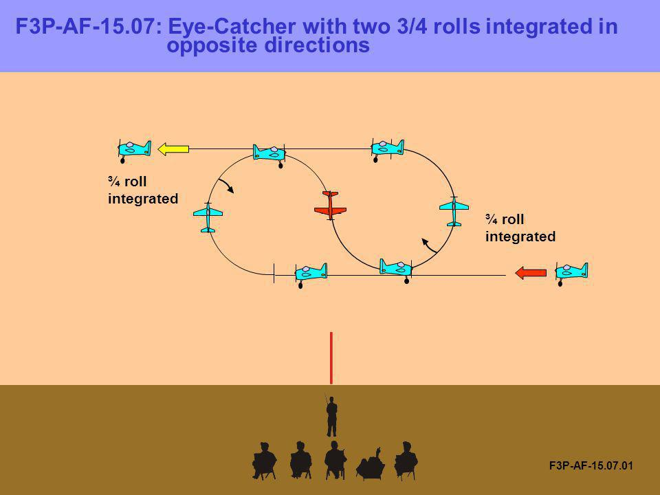 F3P-AF-15. 07: Eye-Catcher with two 3/4 rolls integrated in