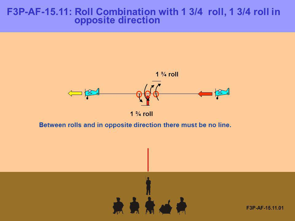 F3P-AF-15. 11: Roll Combination with 1 3/4 roll, 1 3/4 roll in