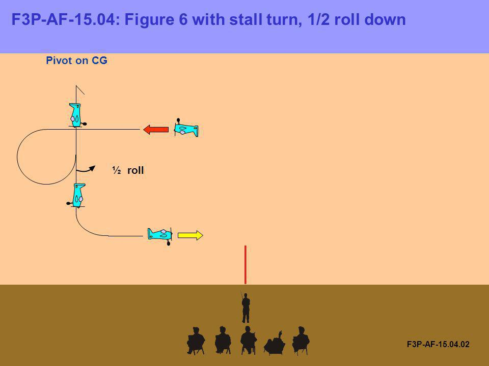 F3P-AF-15.04: Figure 6 with stall turn, 1/2 roll down