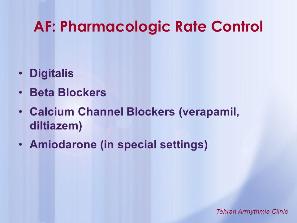 AF: Pharmacologic Rate Control