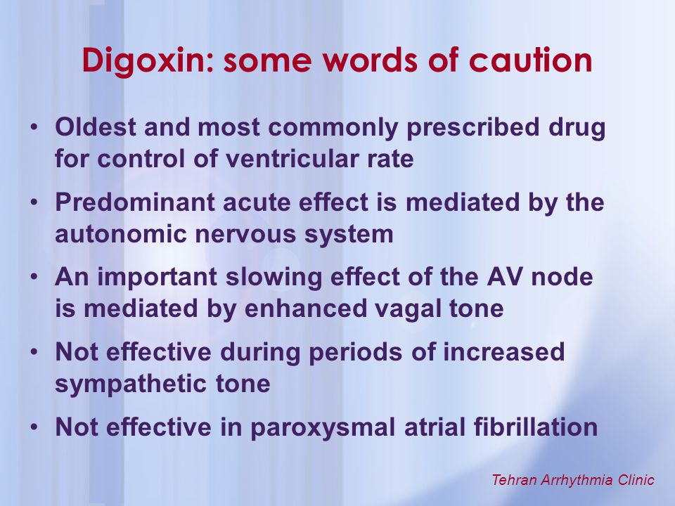 Digoxin: some words of caution
