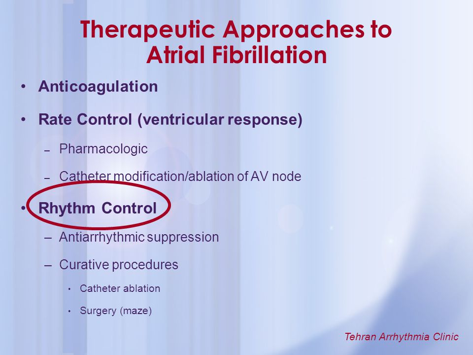 Therapeutic Approaches to Atrial Fibrillation