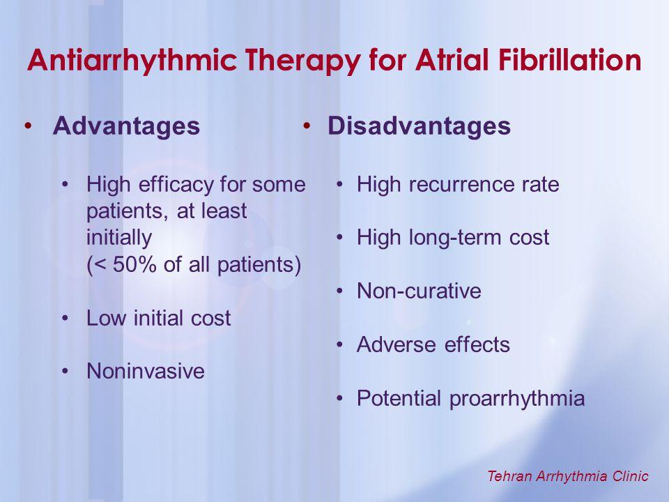 Antiarrhythmic Therapy for Atrial Fibrillation