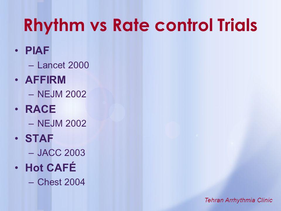 Rhythm vs Rate control Trials