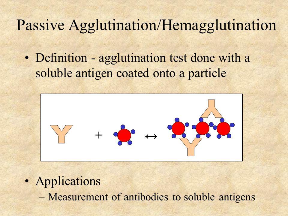 Passive Agglutination/Hemagglutination